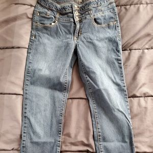 size 11 dark denim skinny jeans